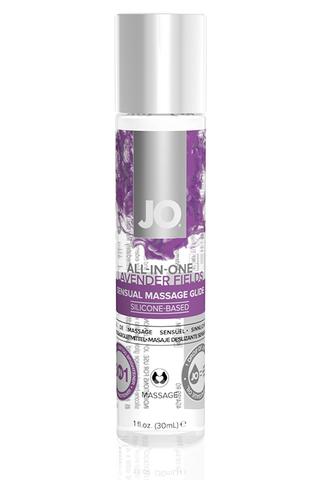 Массажный гель-лубрикант All-In-One Massage Glide Lavender с ароматом лаванды - 30 мл.