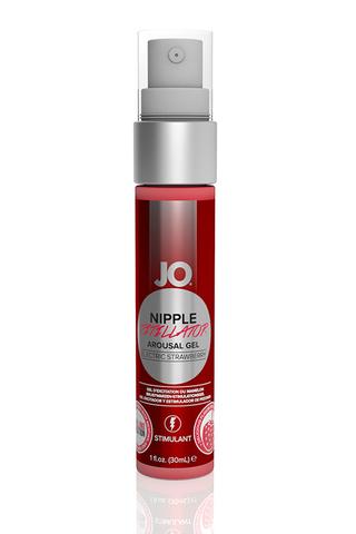 Возбуждающий гель JO® Nipple Titillator Снежная клубника (Electric Strawberry) - 30 мл.