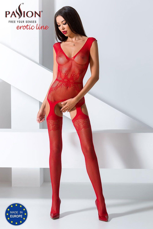 Красный бодикомбинезон BS062 фото