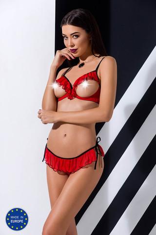 Эротический комплект белья Cherry красного цвета