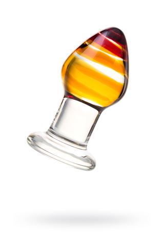 Анальная втулка Sexus Glass, стекло, прозрачная, 9 см, Ø 4 см