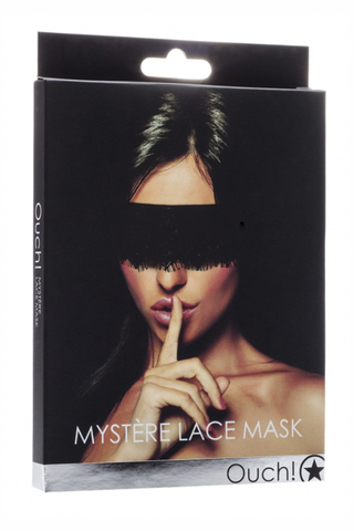 Кружевная маска на глаза закрытого типа (повязка) Mystere Lace Mask