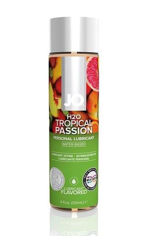 Ароматизированный лубрикант Тропический на водной основе JO Flavored Tropical Passion, 120 мл.