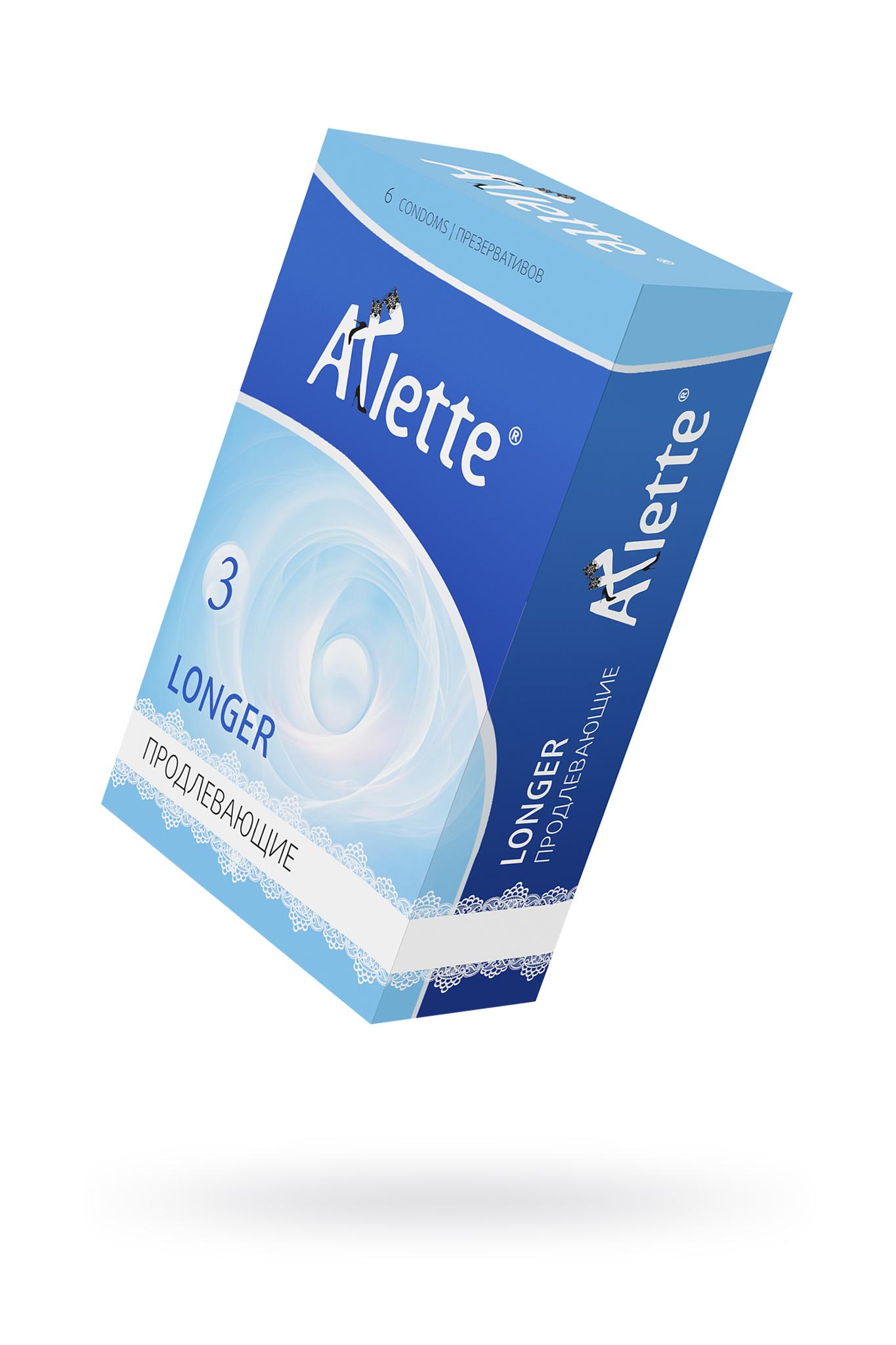 Презервативы Arlette №6, Longer Продлевающие 6 шт. фото