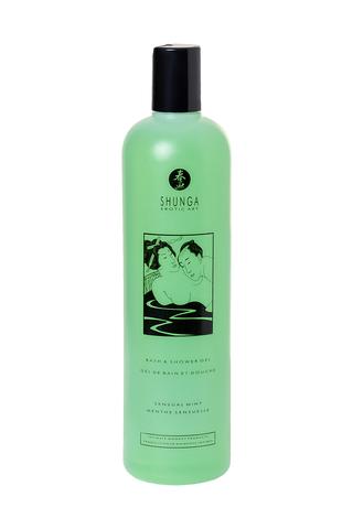 Гель для ванны и душа Shunga «Чувственная мята», съедобный, с расслабляющим эффектом, 500 мл