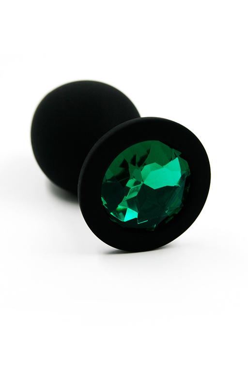 Анальная пробка из силикона dark green