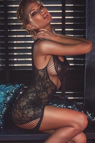 Черное платье-сетка Adios