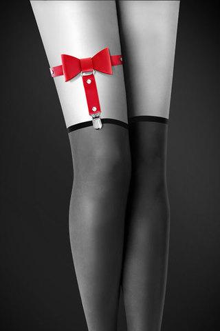 Гартер Bijoux Pour Toi с бантиком красный GARTER WITH BOW RED
