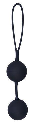 Вагинальные шарики на сцепке Black Velvets The Perfect Balls в силиконовой оболочке