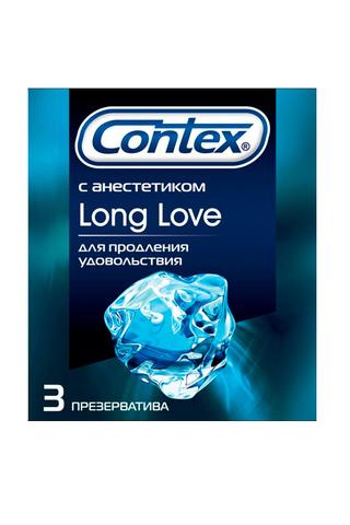 """Презерватив """"Contex"""" №3 Long Love с анестетиком, продлевают удовольствие"""