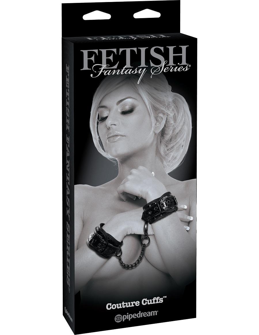 Наручники лаковые соединенные цепочкой Couture Cuffs фото