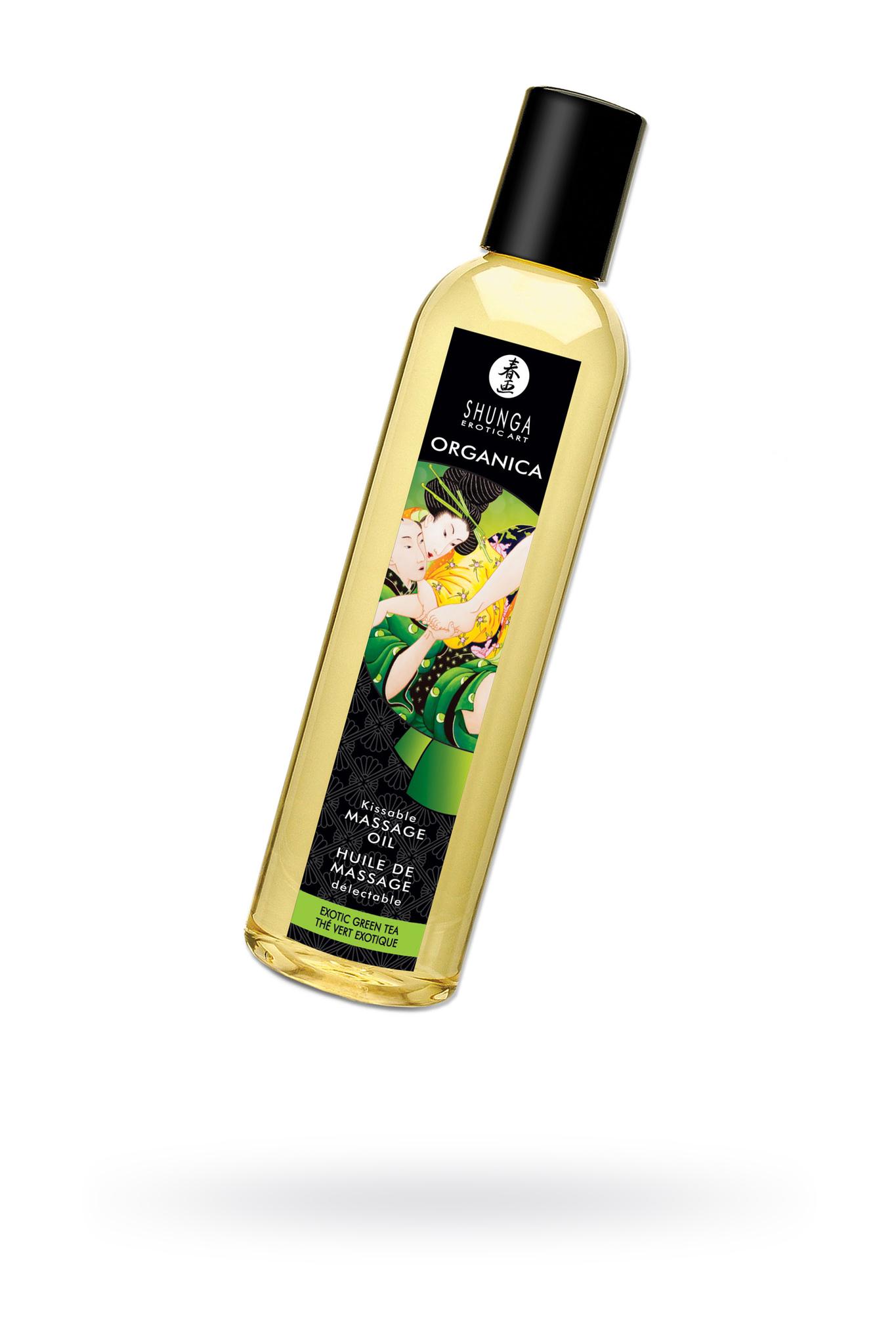 Масло для массажа Shunga Organica Exotic Green Tea, натуральное, с расслабляющим эффектом, с ароматом зелёного чая, 250 мл фото