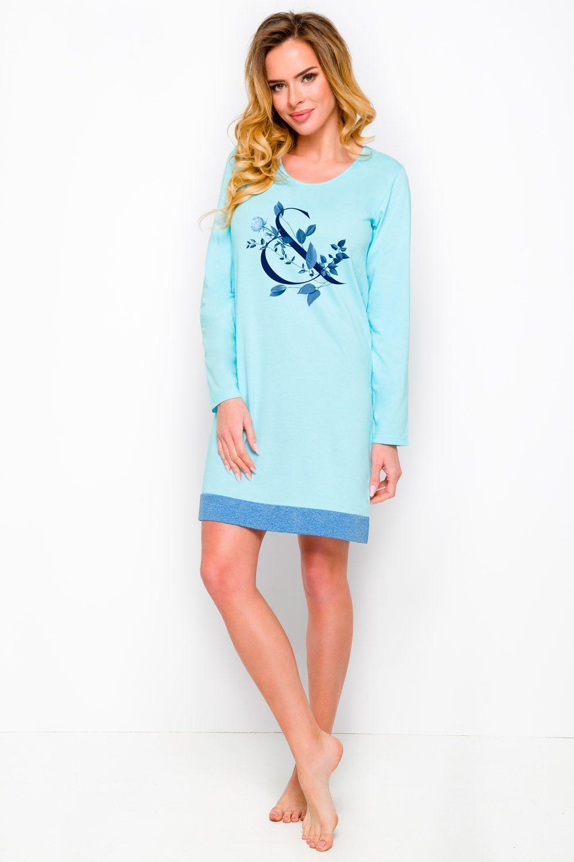 Молодежная женская ночная сорочка Viva из высококачественного натурального хлопка фото