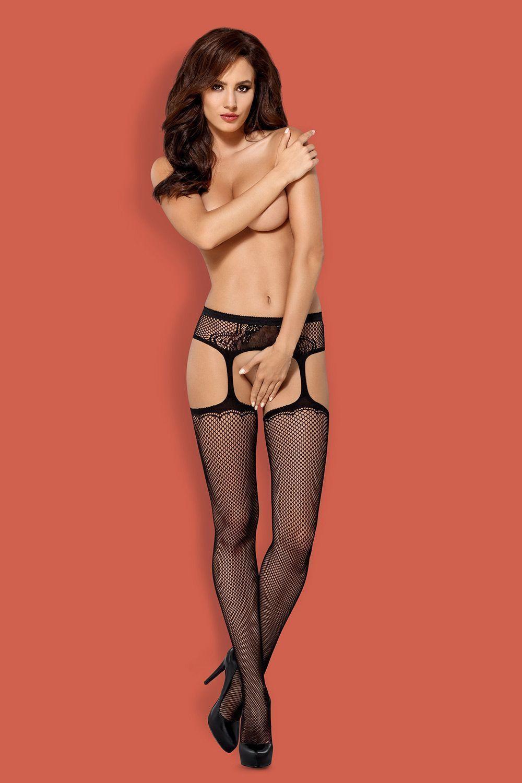 Чулки с поясом S 232 garter stockings фото