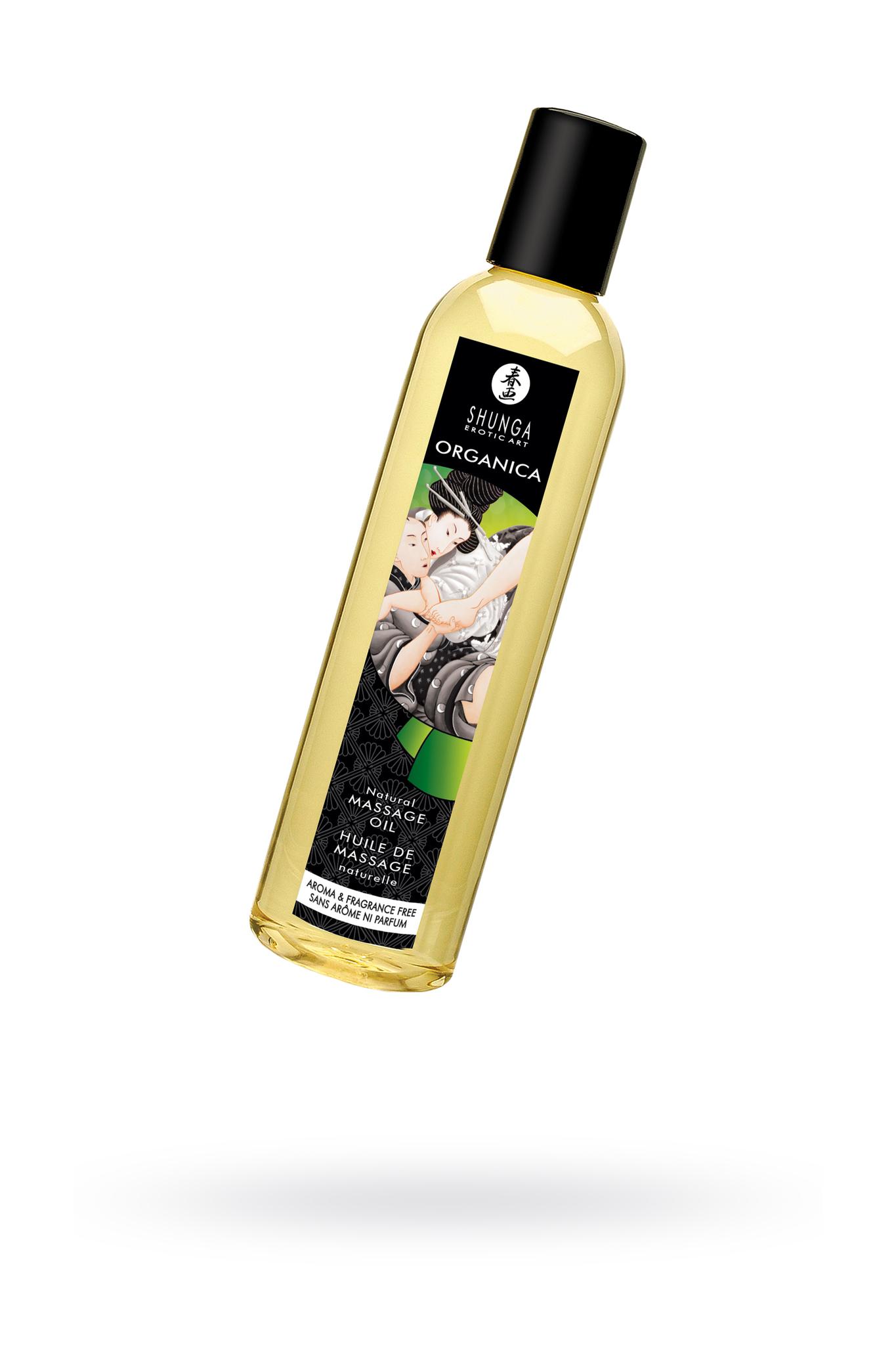 Масло для массажа Shunga Organica Aroma and Fragrance Free, натуральное, возбуждающее, без аромата, 250 мл фото