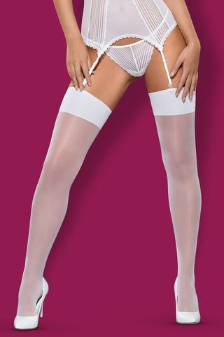 Белые чулки S 800 stockings White