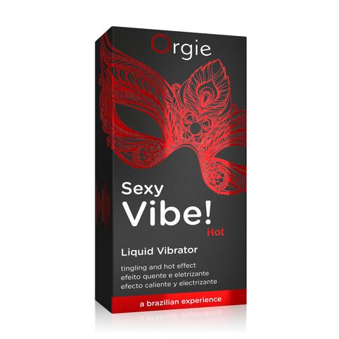 Гель для массажа ORGIE Sexy Vibe Hot с разогревающим и вибрирующим эффектом, 15 мл