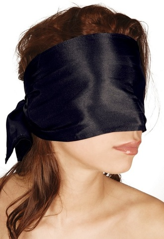 Широкая повязка-шарф на глаза черный Bad Kitty Bondage Scarf