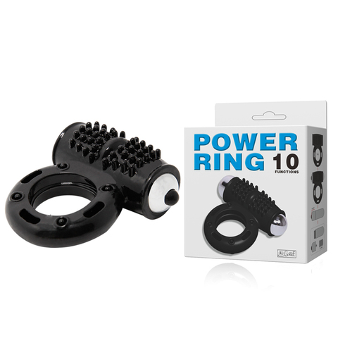 Эрекционное кольцо с вибрацией POWER RING 10