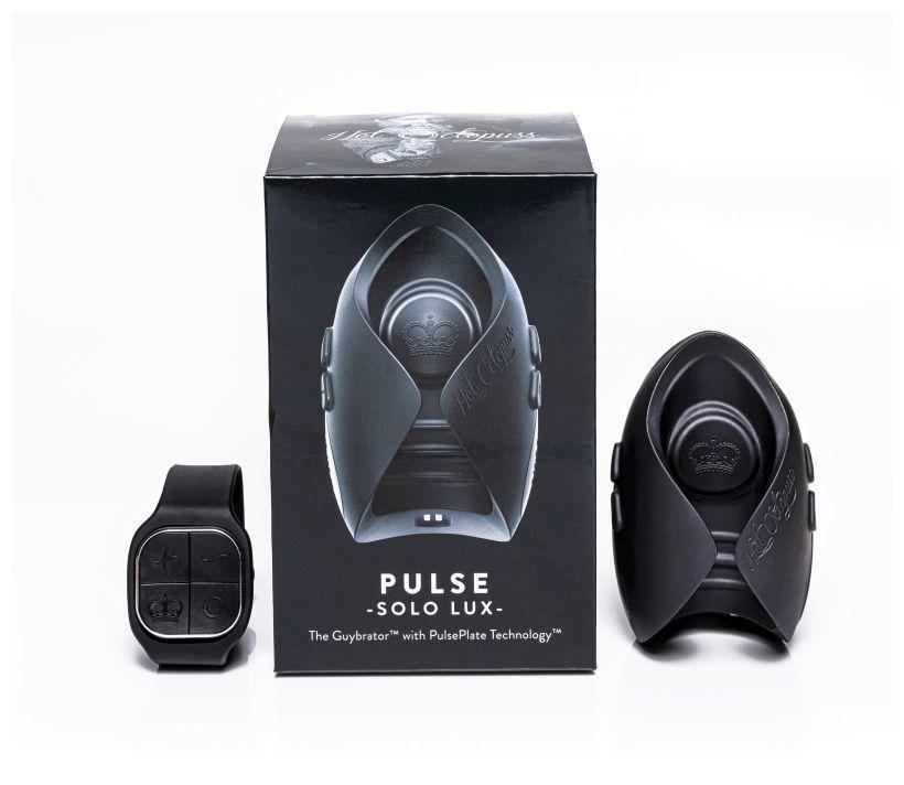 Инновационный мужской вибратор (осциллятор) с пультом ДУ PULSE SOLO LUX для оргазма без рук фото