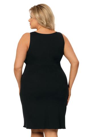 Черная сорочка Sarah с V-образным вырезом горловины