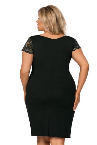 Черная сорочка Tess с V-образным вырезом горловины