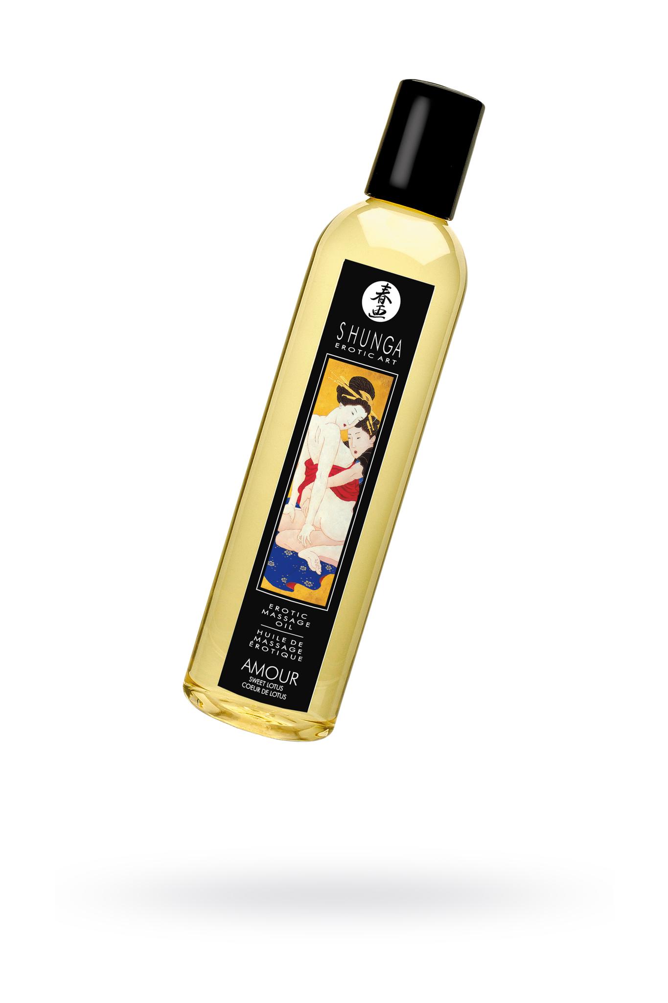 Масло для массажа Shunga Amour «Sweet Lotus», натуральное, возбуждающее, с цветочным ароматом, 250 мл фото