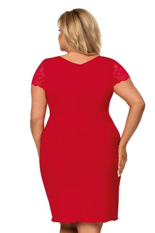 Красная сорочка Tess с V-образным вырезом горловины