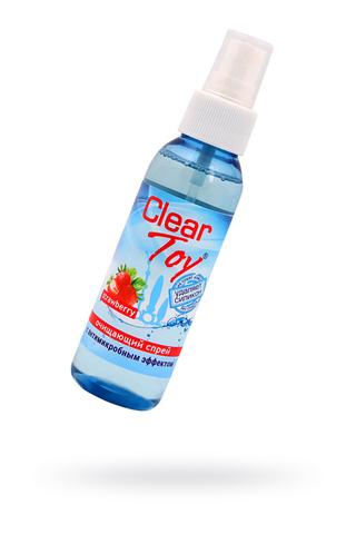"""Очищающий спрей """"CLEAR TOYS STRAWBERRY"""" с антимикробным эффектом, 100 мл"""