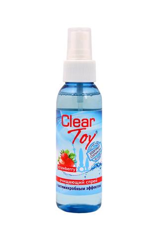 Очищающий спрей CLEAR TOYS STRAWBERRY с антимикробным эффектом, 100 мл