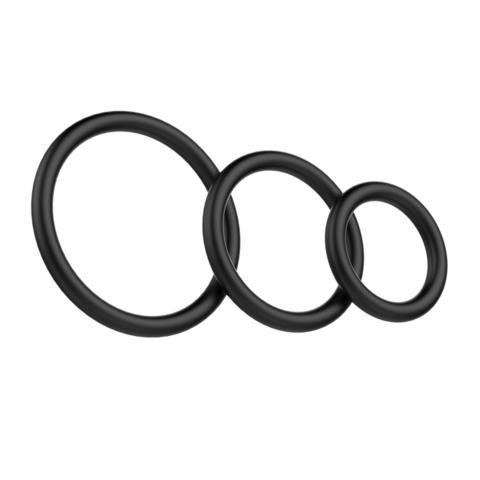 Baile Набор Эрекционных колец Cock & Ball rings Rubber Set