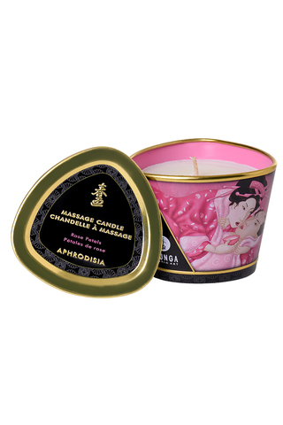 Массажое аромамасло Shunga Aphrodisia с ароматом розы, 170 мл