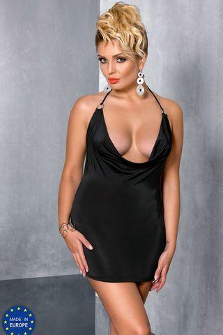 Черное мини-платье Miracle