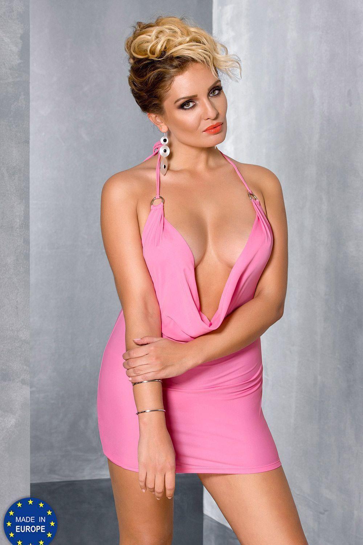 Розовое мини-платье Miracle фото