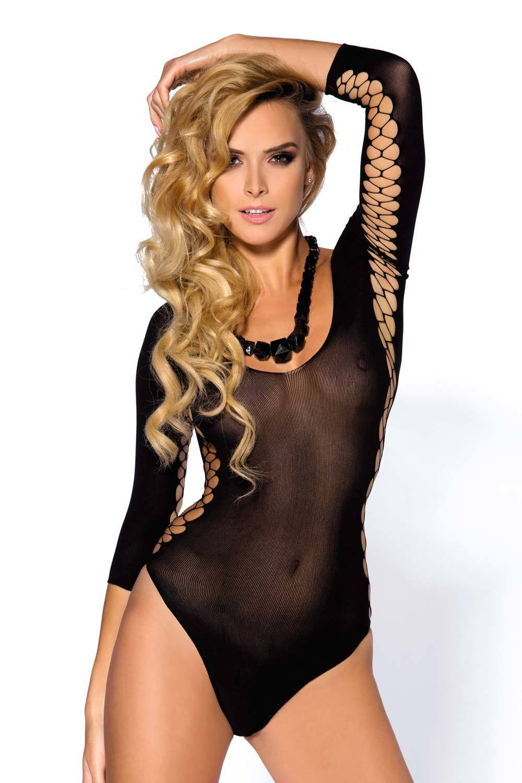Суперэластичное боди Anais Muriel черного цвета идеально облегает фигуру фото