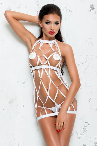 Платье и стринги Me Seduce Bond Me Colette, белые, L/XL