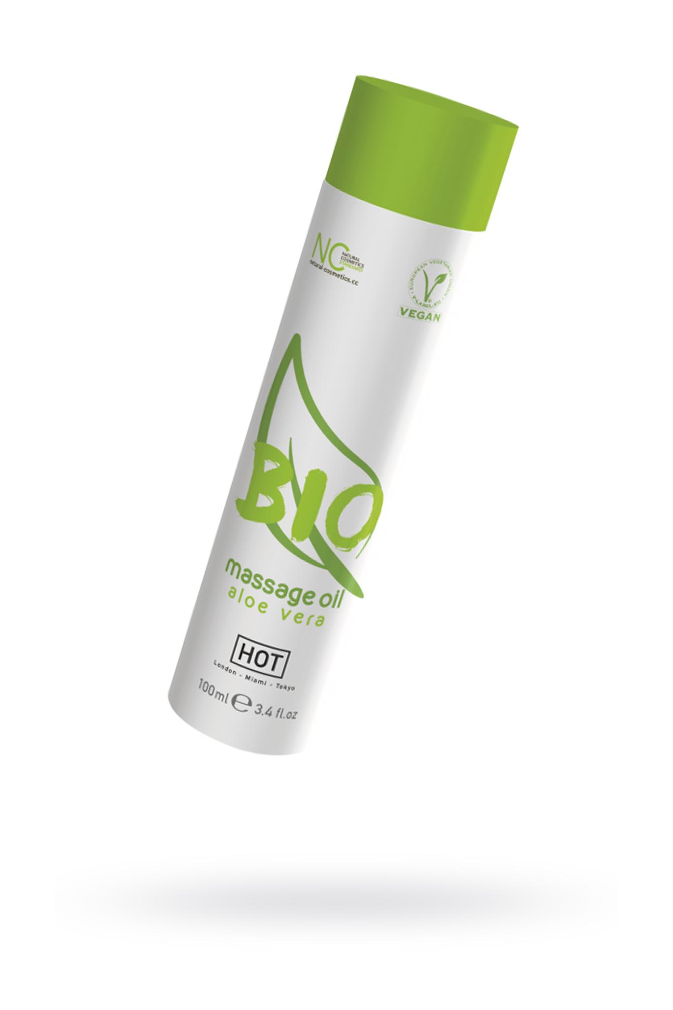 Массажное масло HOT BIO Massage oil aloe vera 100 мл. фото