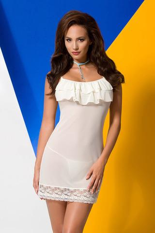 Сорочка + стринги Ariel цвета экрю