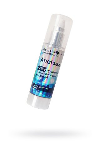 Гель-любрикант ANAL SEX , с гиалуроновой кислотой.c экстрактом мяты 55г
