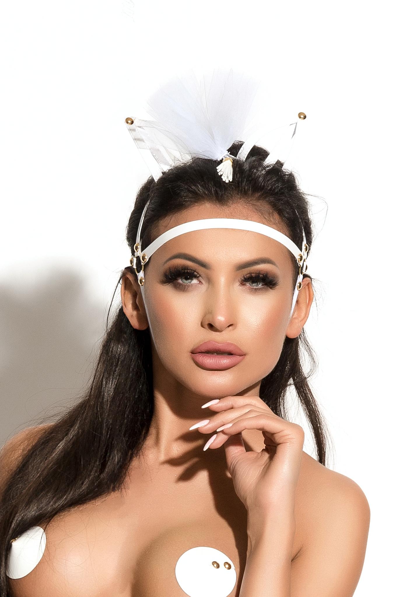 Маска с ушками Me Seduce Queen of hearts Allure, белая, OS фото