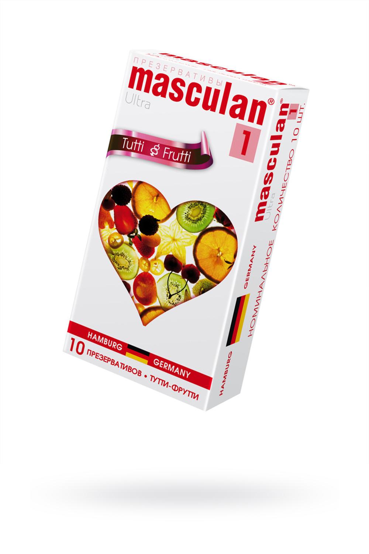 Презервативы Masculan Ultra 1,  10шт.  Тутти-Фрутти (Tutti-Frutti) ШТ фото