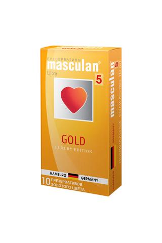 Презервативы Masculan 5 Ultra Золотого цвета, 10шт