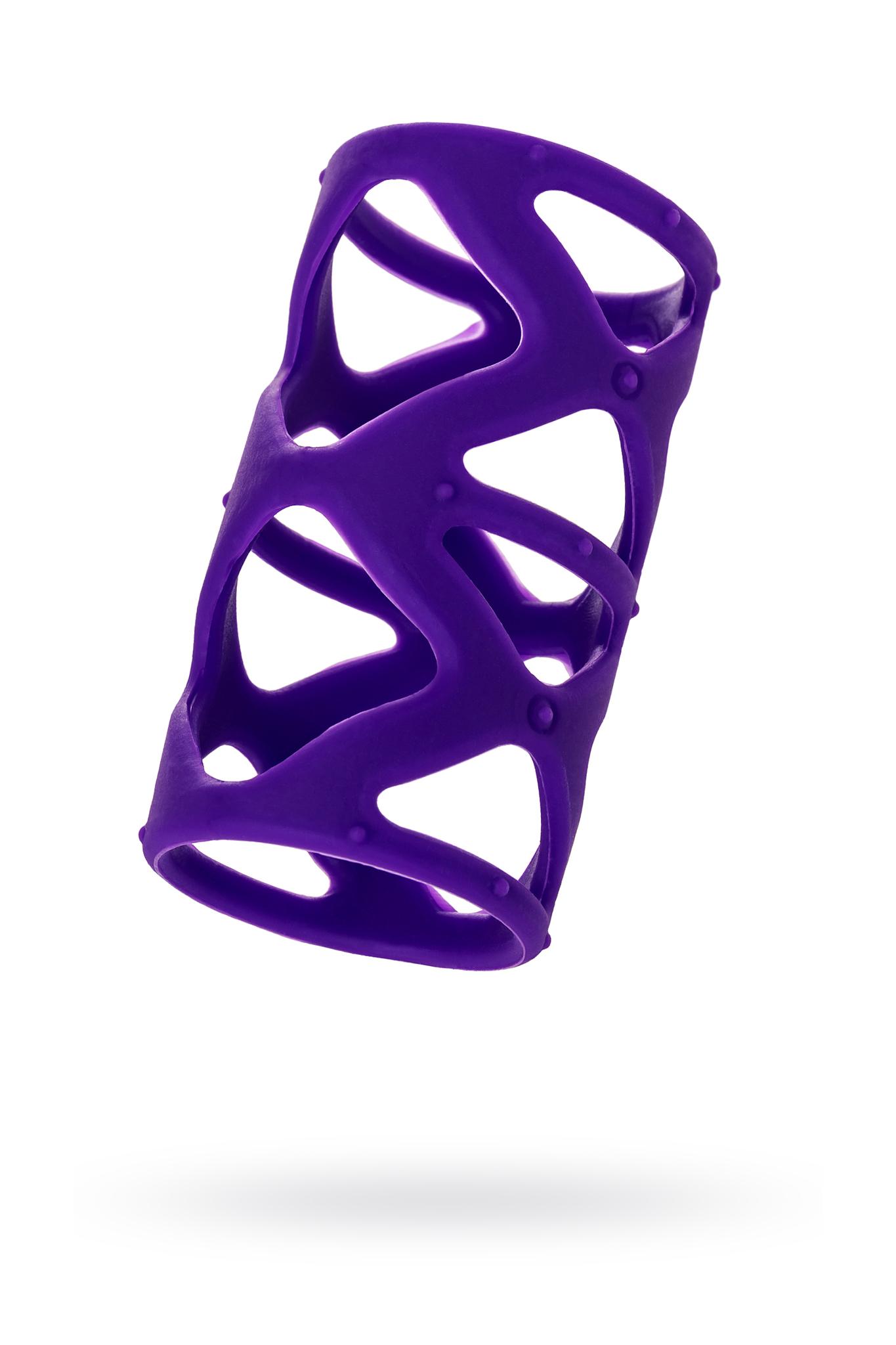 Насадка на пенис TOYFA A-Toys  , Силикон, Фиолетовый, 7,5 см фото