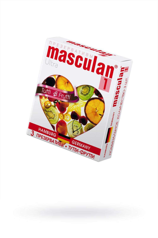 Презервативы Masculan Ultra 1,  3 шт.  Тутти-Фрутти (Tutti-Frutti)  ШТ фото