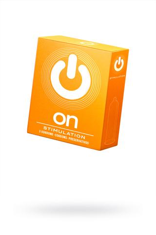 Презервативы ON) Stimulation №3 - с точками (ширина 54mm)