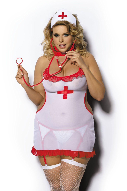 Костюм медсестры Shane (сорочка, пояс+стриги, чепчик) фото