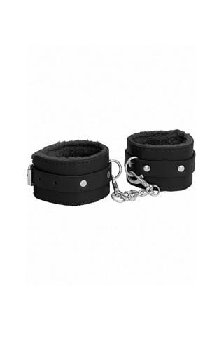 Наручники (оковы, фиксаторы) Plush Leather Hand Cuffs Ouch!