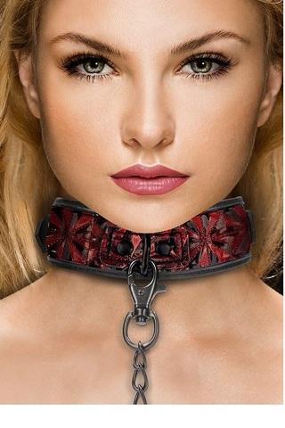 Широкий ошейник Luxury Collar with Leash