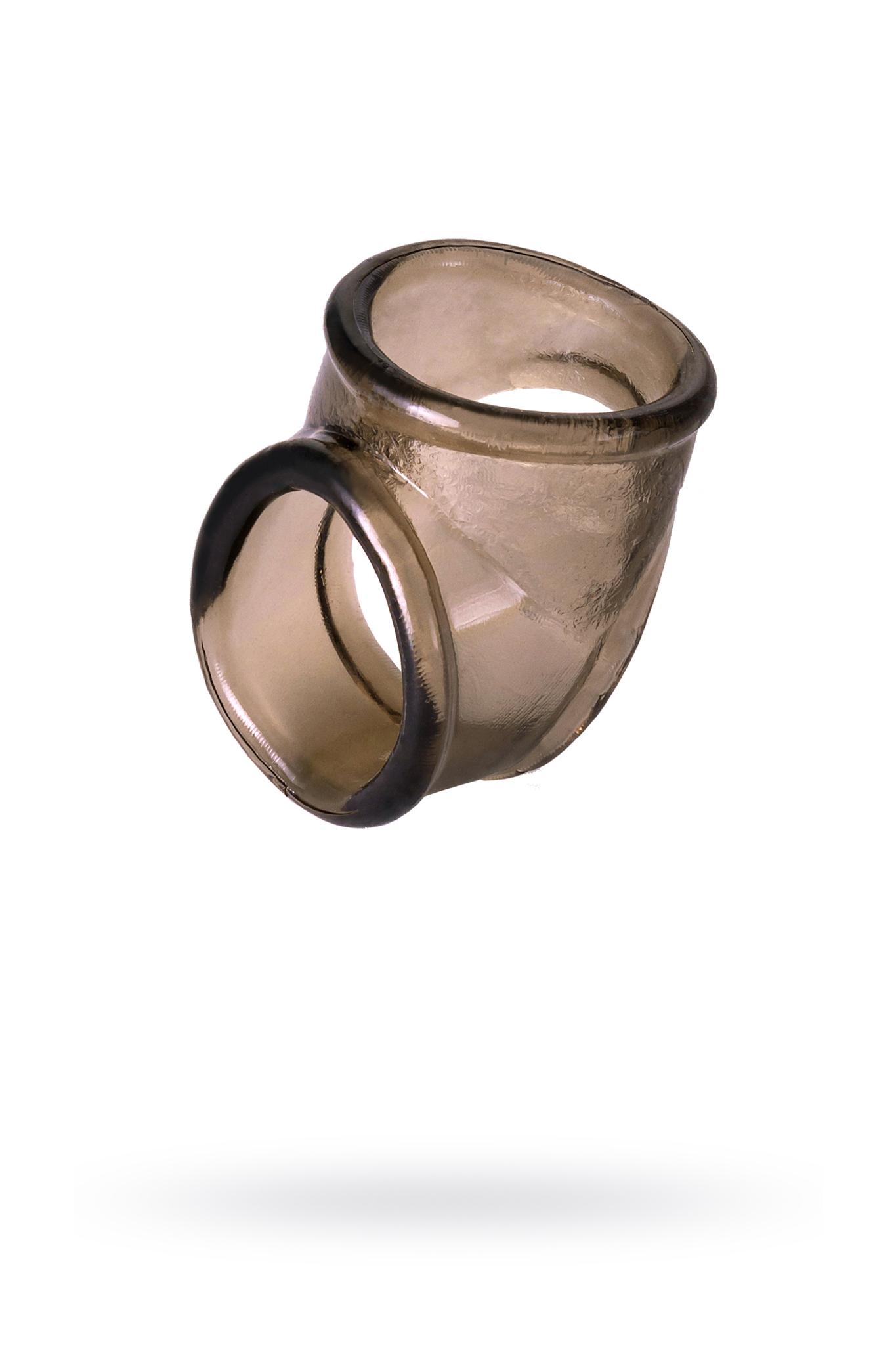 Эрекционное кольцо на пенис TOYFA XLover  , Термопластичный эластомер (TPE), чёрный, 3,5 см фото