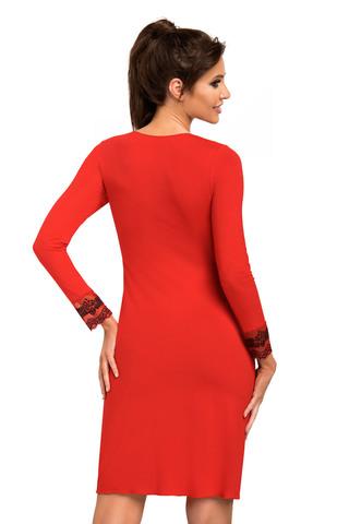 Cорочка Jasmine II красного цвета с рукавом 7/8, выполнена из мягкой гладкой вискозы